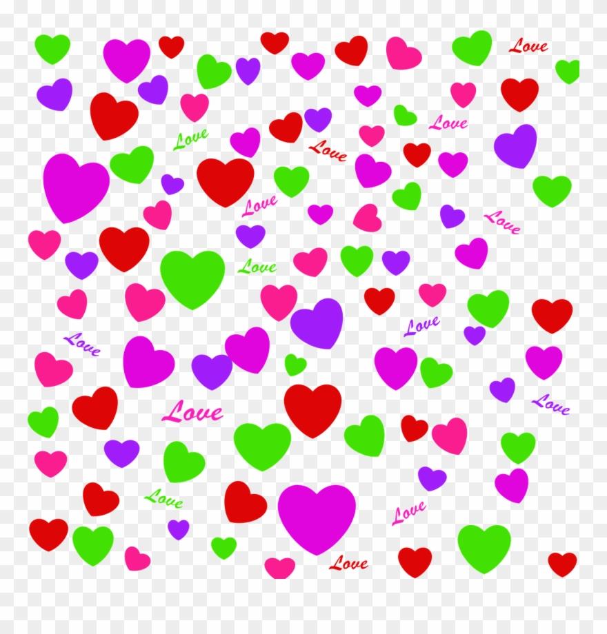 Fundo Corações Coloridos Png Clipart (#3996000).
