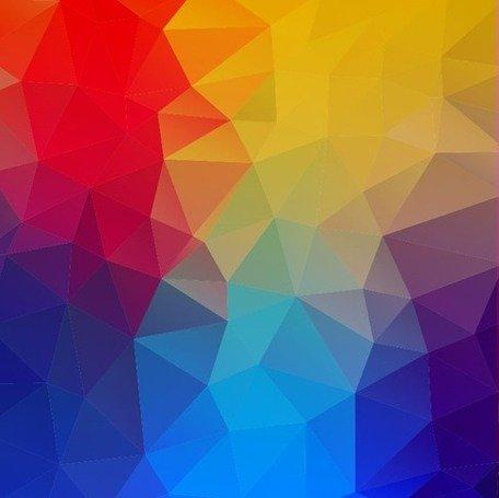 Abstrato geométrico formas fundo colorido Clipart Picture.