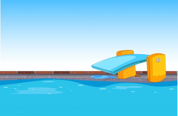 Fundo azul piscina.