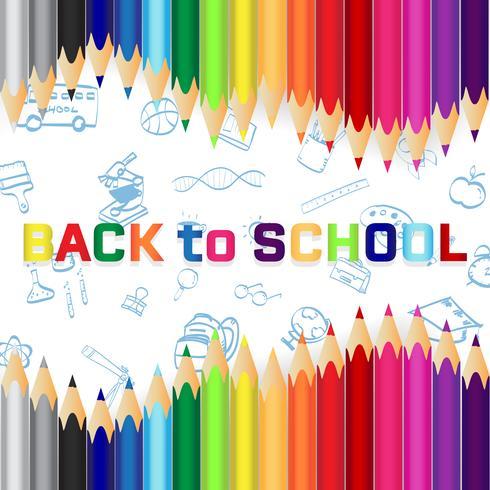 De volta à escola, fundo do conceito de educação com lápis.