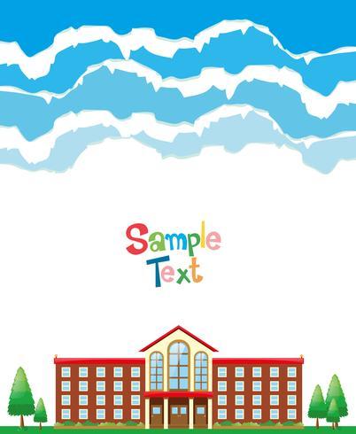 Design de papel com fundo escolar.