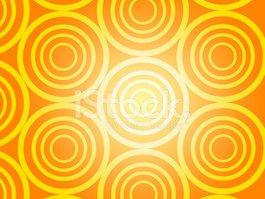 Fundo Laranja Anéis & Círculos imagens vetoriais.