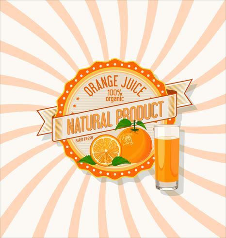 Suco de laranja e fatias de fundo laranja.