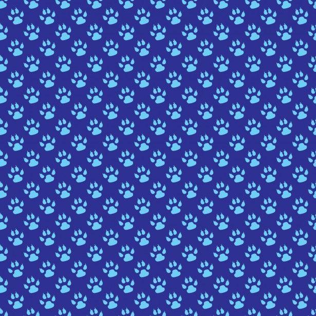 Dois tom azul pata animais imprime papel de parede padrão para.