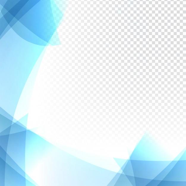 Fundo transparente azul ondulado.