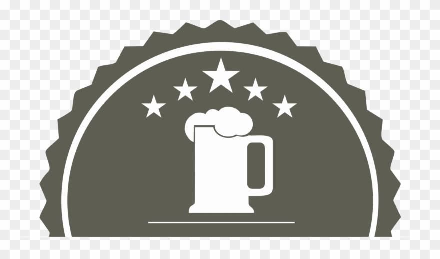 Caneca De Cerveja Desenho Fundo Preto.
