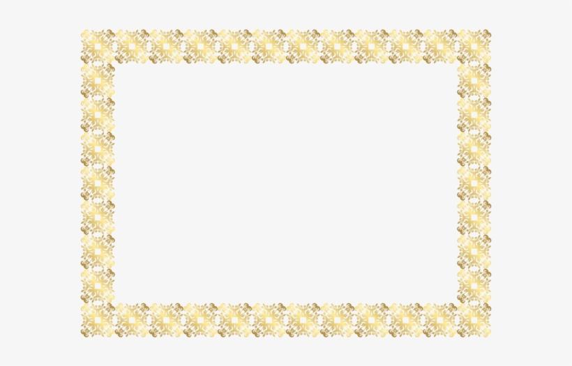 Gold Frame Border Png Clip Art Image.