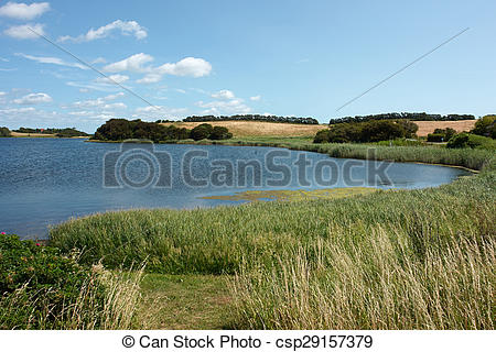 Picture of Country side lake Funen Denmark.