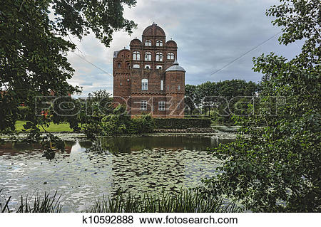 Pictures of Hesselager castle on Funen in Denmark k10592888.