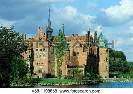 Pictures of Denmark, Funen, Egeskov castle v58.