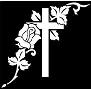 Funeral cross clip art.