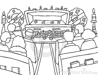 1103 Funeral free clipart.