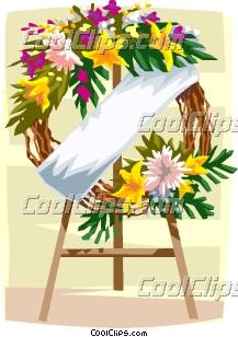 funeral wreath Clip Art.