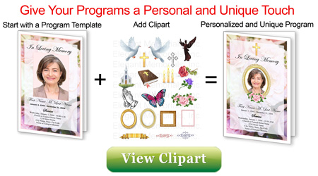 Funeral Program Clipart.