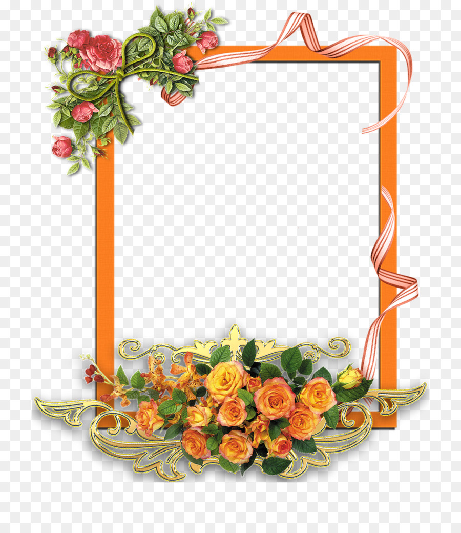 Flower Wreath Frame clipart.