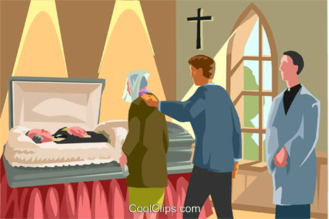 at the funeral home, visitation Royalty Free Vector Clip Art.