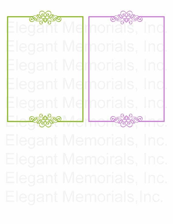 Funeral Program Borders Clipart Vol. 1.