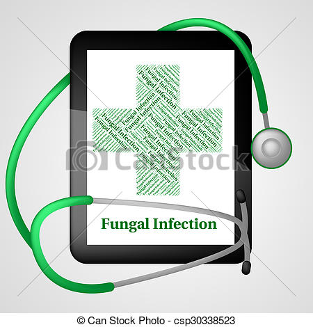 Clip Art of Fungal Infection Represents Poor Health And Affliction.