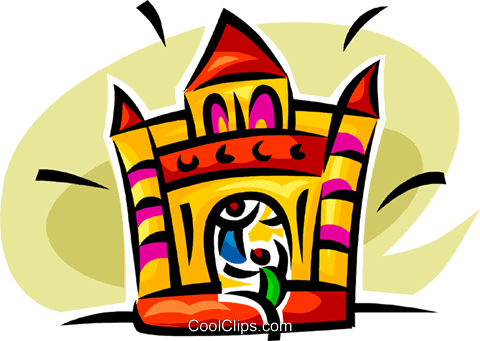 fun house Royalty Free Vector Clip Art illustration.