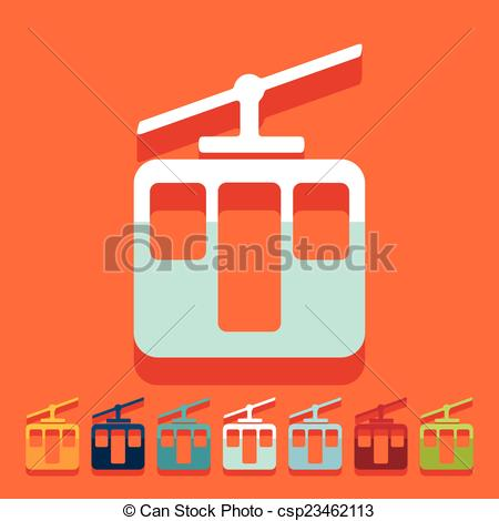 Vector Clip Art of Flat design: funicular csp23462113.