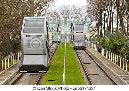 Stock Photography of Funicular transportation.