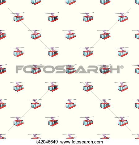 Clip Art of Funicular railway pattern, cartoon style k42046649.