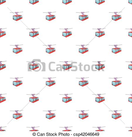 EPS Vector of Funicular railway pattern, cartoon style.