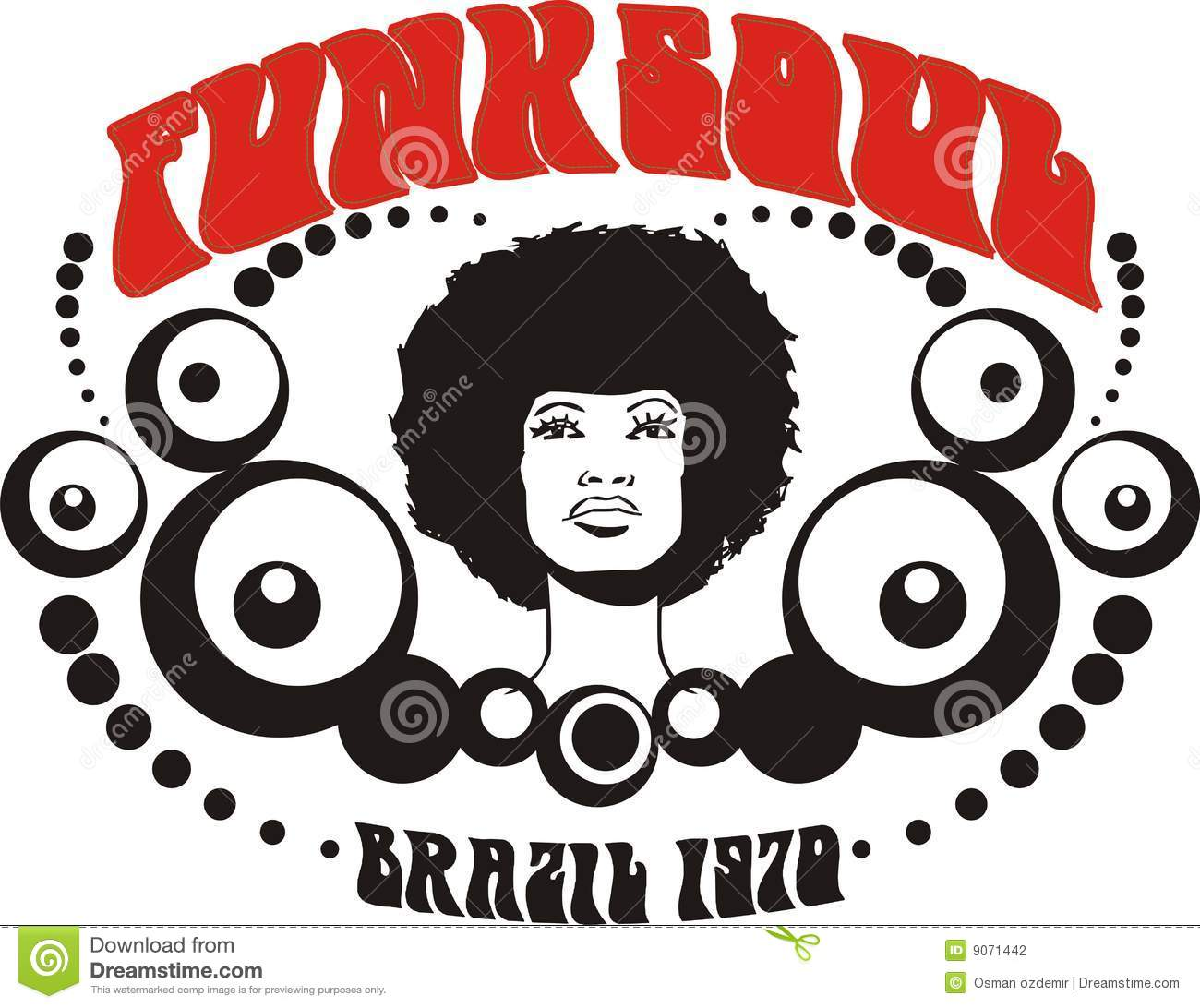 Funk Soul Brazil Graphic Stock Photography.