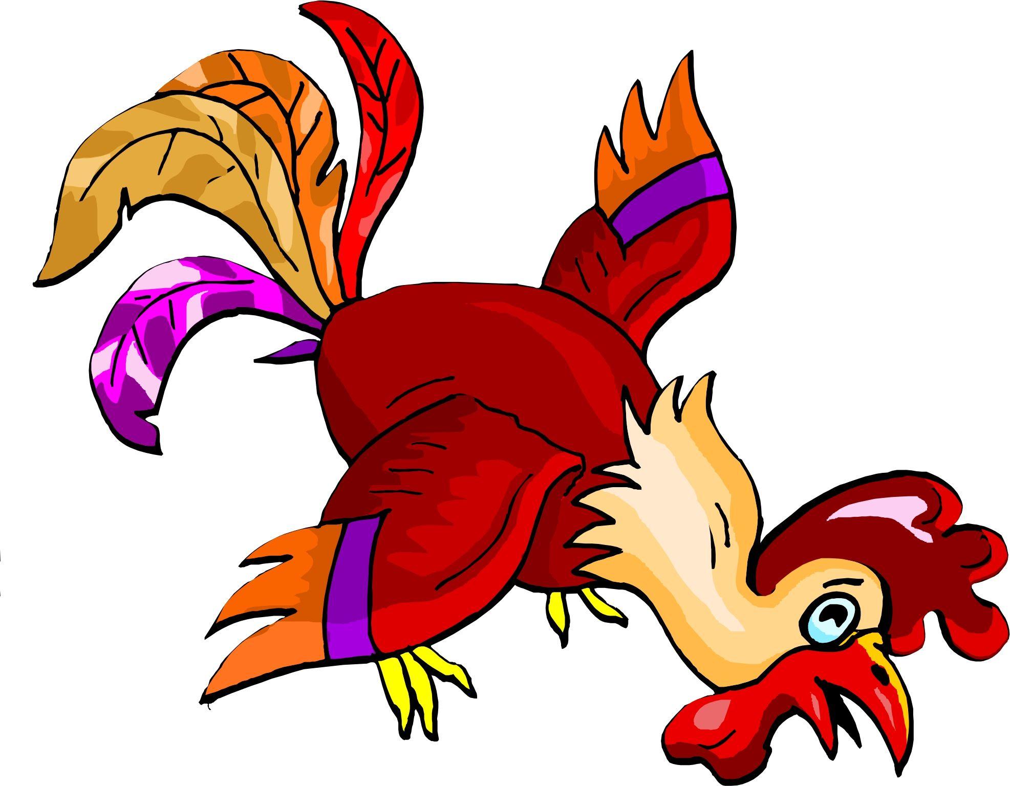 Funky Chicken Clip Art.