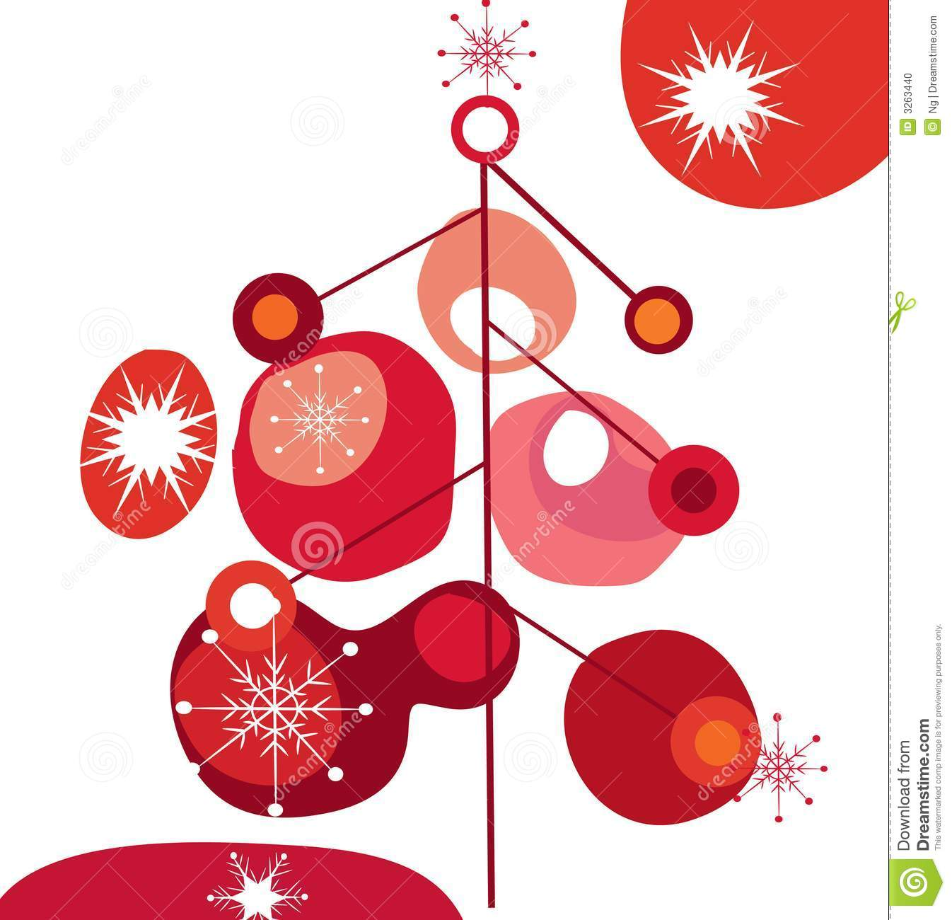 Funky christmas tree stock illustration. Illustration of background.