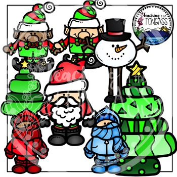 Funky Winter and Christmas Clipart.