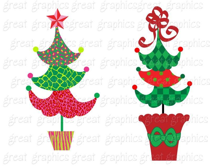 Christmas Tree Clipart Christmas Clip Art Digital Christmas.