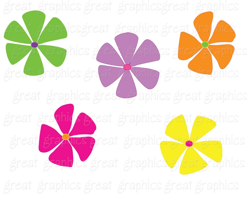 Free clipart funky flowers.
