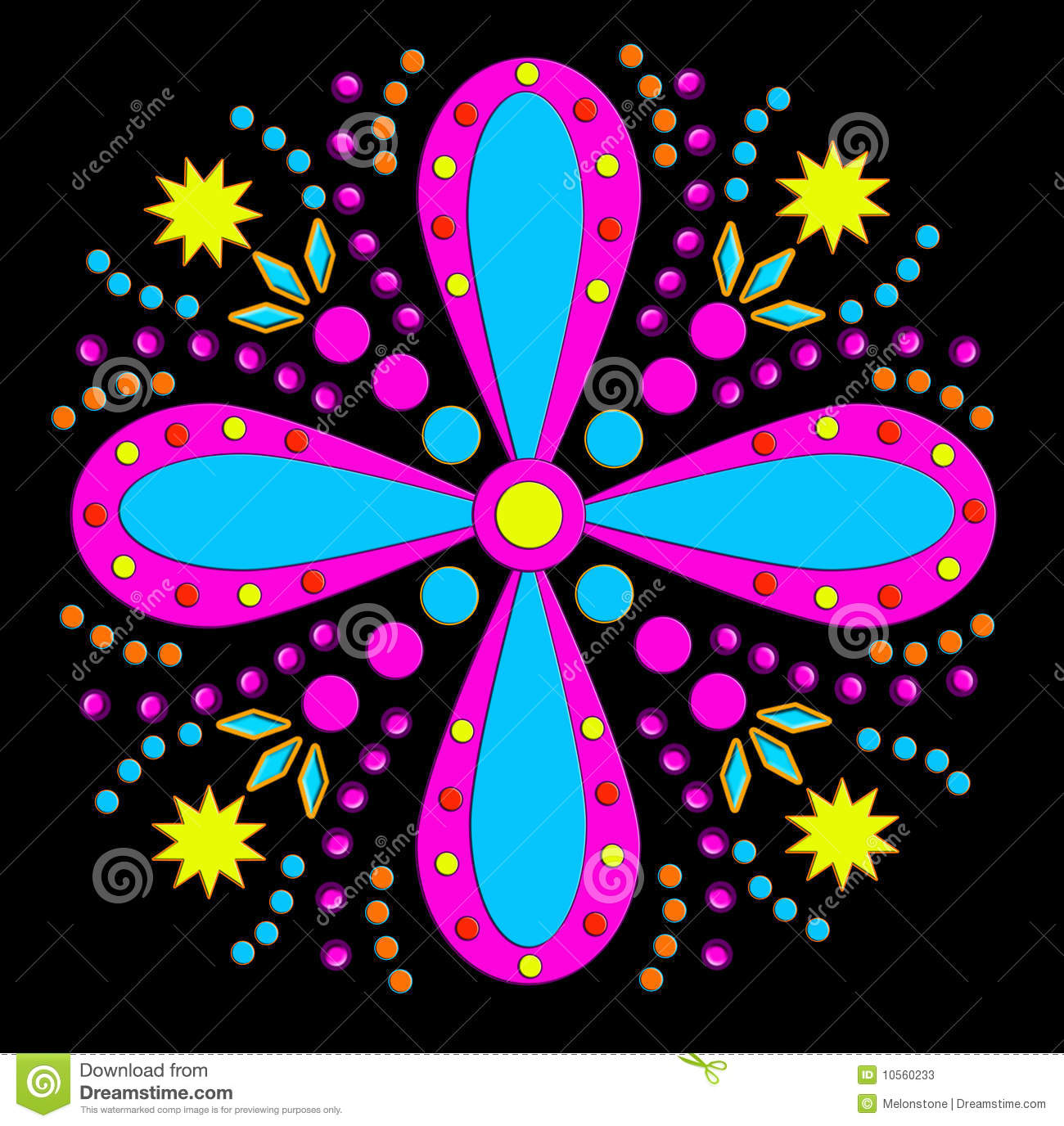 Funky floral clipart.