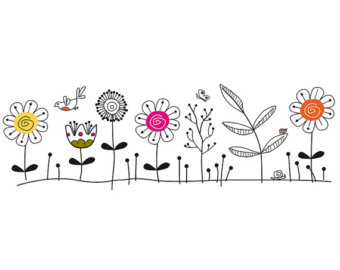 Funky Flower Clipart.