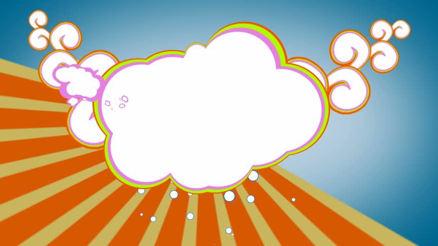 Funky Seventies Cloud Background Stock Footage Video 461698.