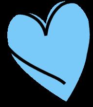 Funky Blue heart.