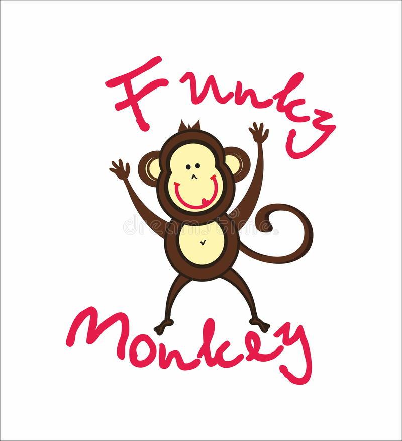 Funky Monkey Stock Illustrations.