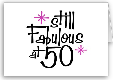 Free 50th birthday clip art.