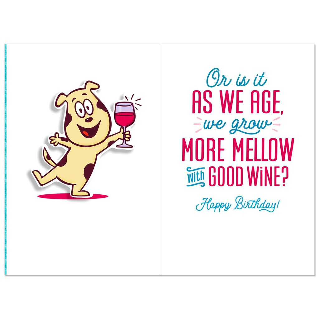 Like Good Wine Funny 60th Birthday Card.