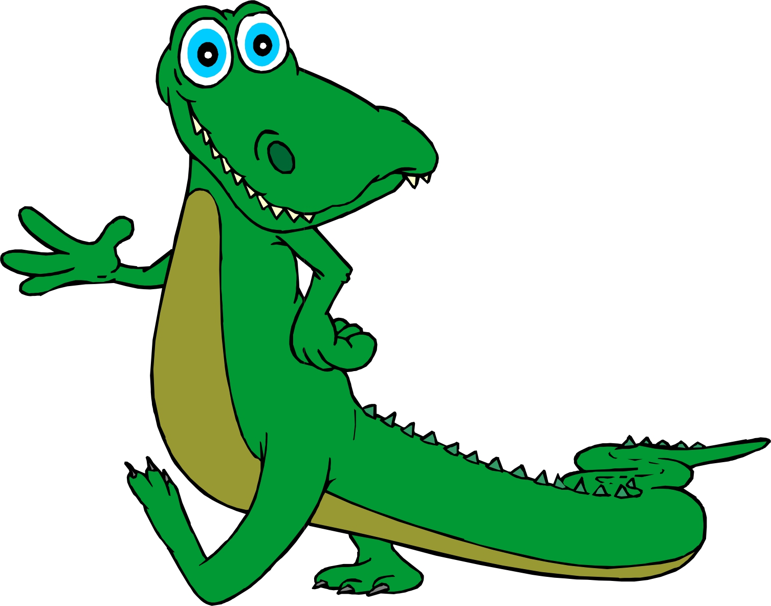 Funny alligator clip art crocodile pictures 2.