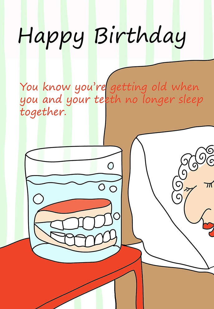 Funny Birthday For Older People Clipart#2046694.