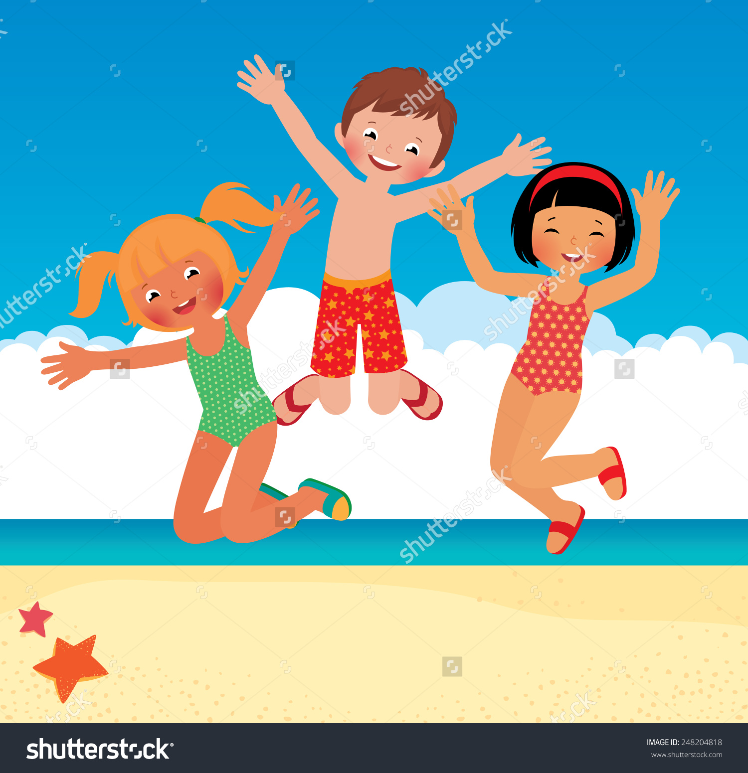 Showing Post Media For Beach Fun Clip Art Cartoon