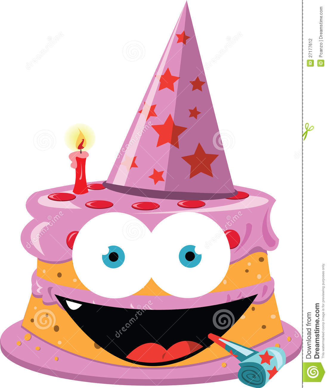 Funny Birthday Cake Clipart.