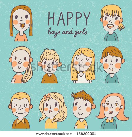 Funny Boy And Girl Hunging A Banner Clipart No Dringking And.