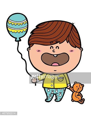 funny Boy. Clipart Image.