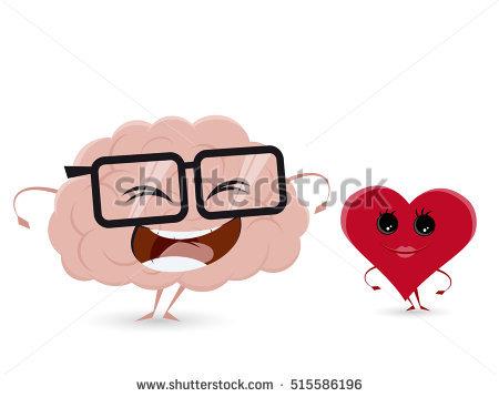 Funny Brain Clipart Stock Vector 457500337.