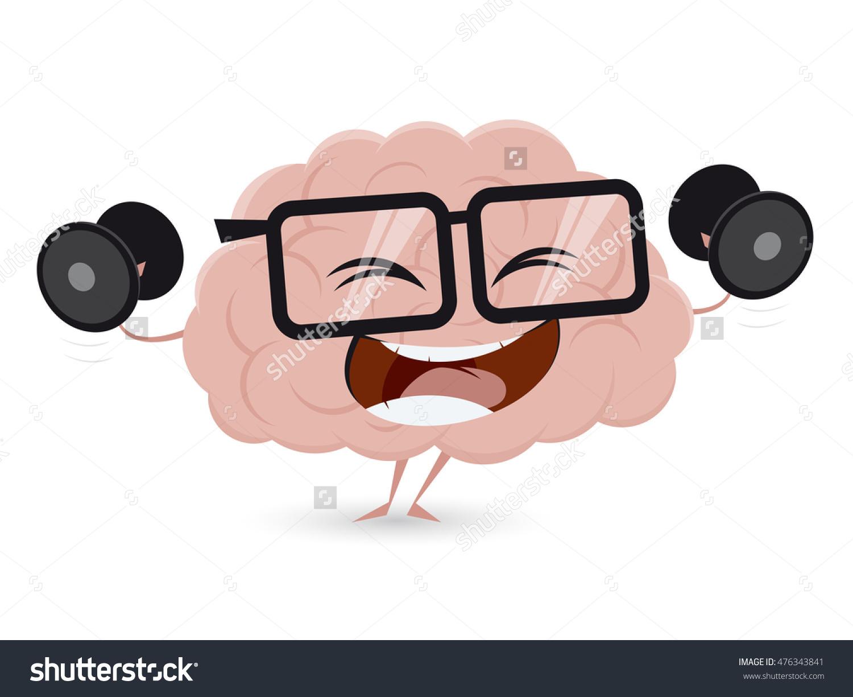 Funny Brain Training Dumbbells Clipart Stock Vector 476343841.