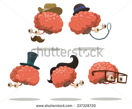Funny Brain Stock Images, Royalty.