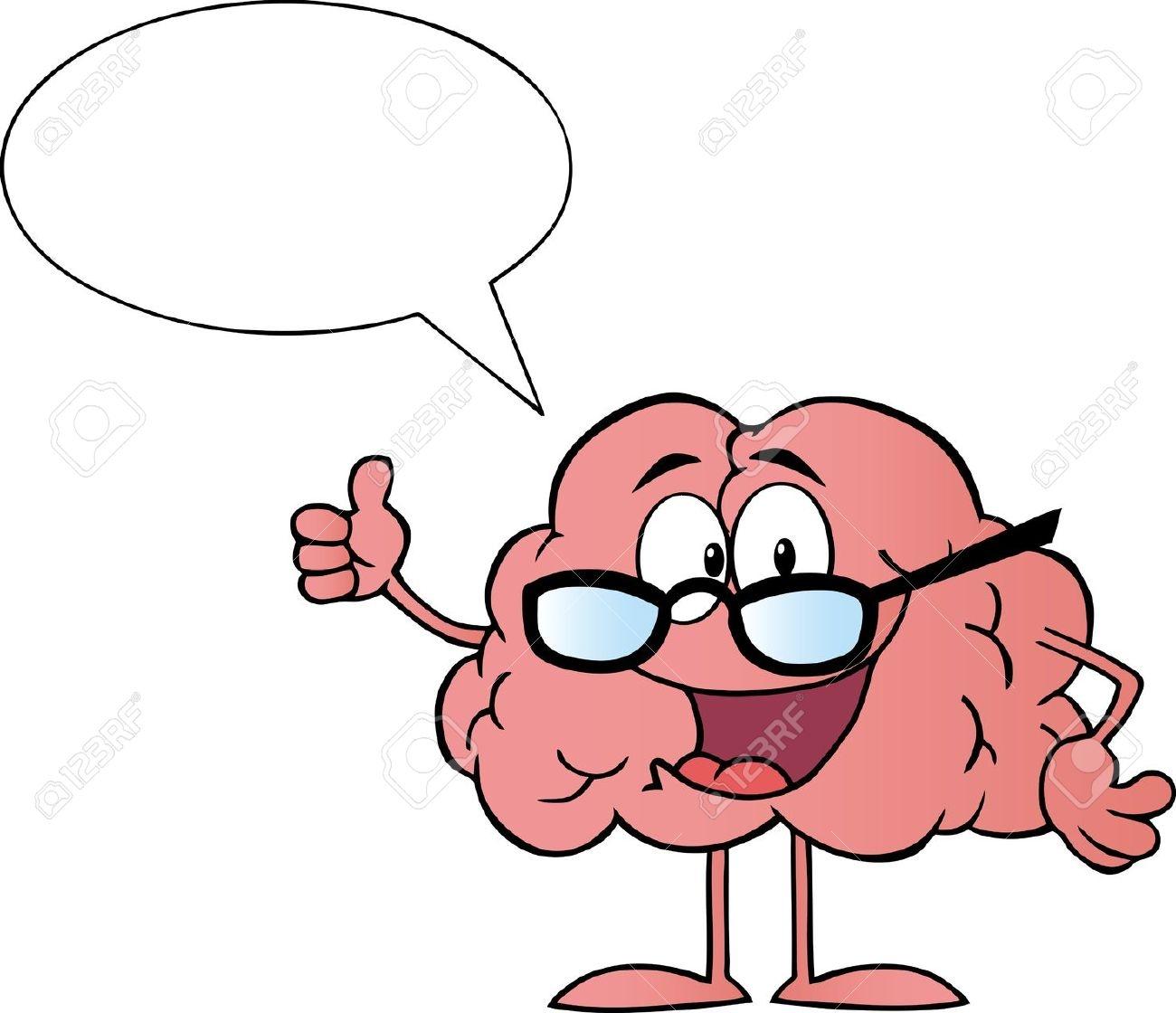 Funny Brain Clipart.